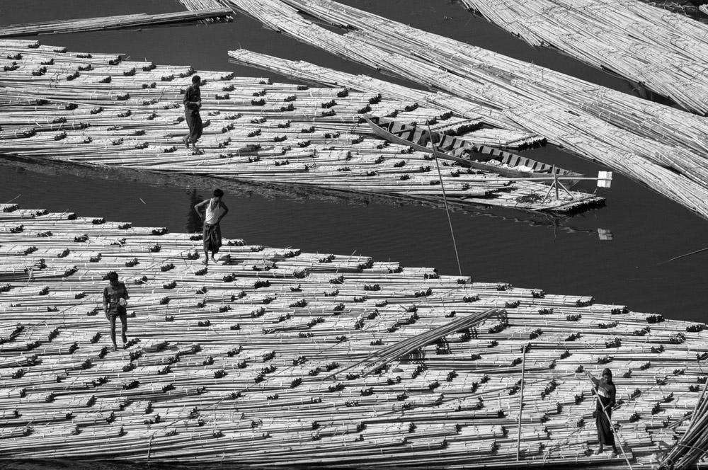 Bamboo Market Rhakine Myanmar