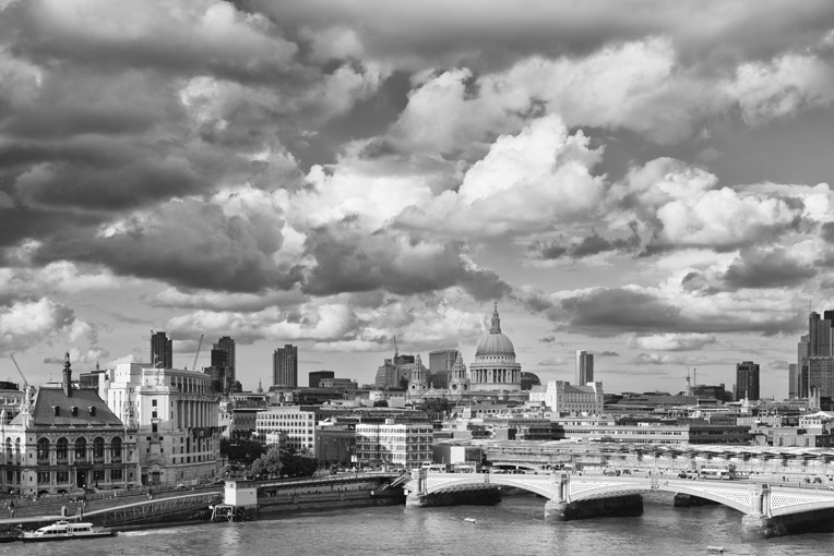 Dramatic London Cityscape – St Pauls Skyline