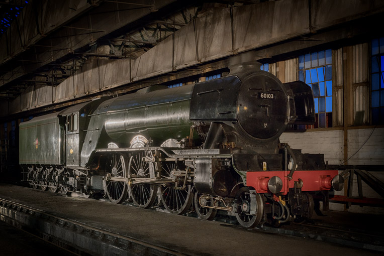 Flying Scotsman in the shed