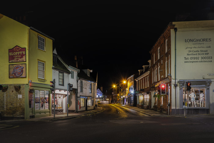 Night view of St Andrew Street