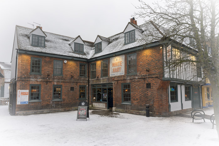 The White Hart in winter