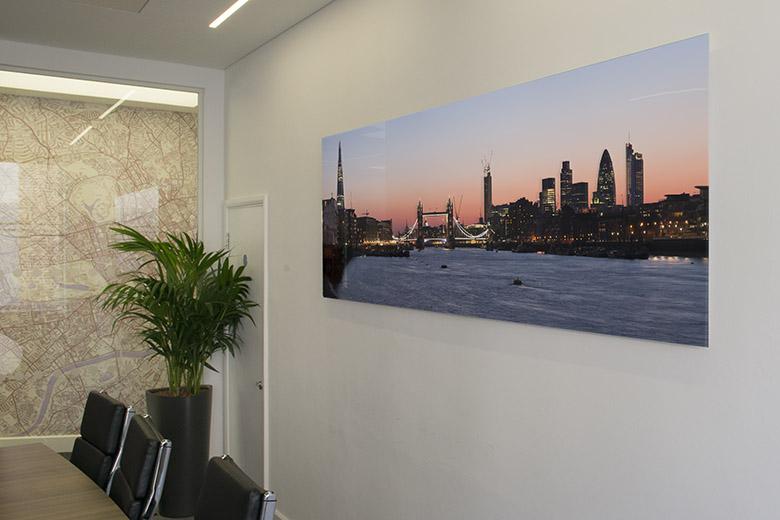 Boardroom art – London panorama