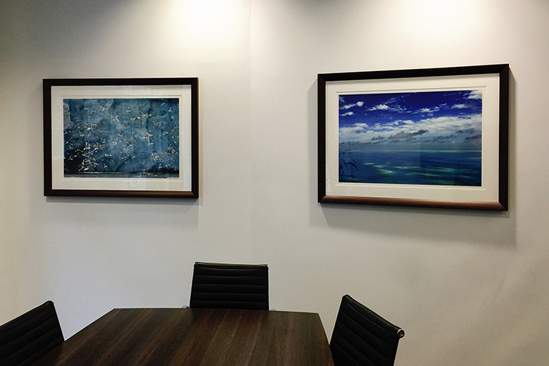 Boardroom art – dramatic landscapes in blue