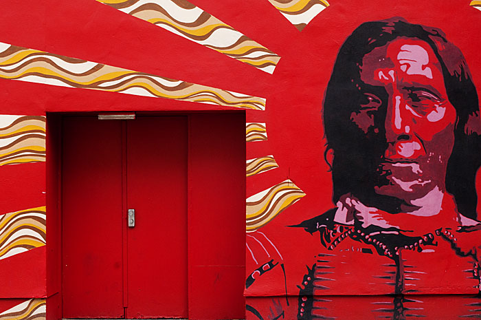 Red Indian Mural, Camden Town, London