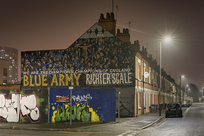 Blue Army Leicester City Murals