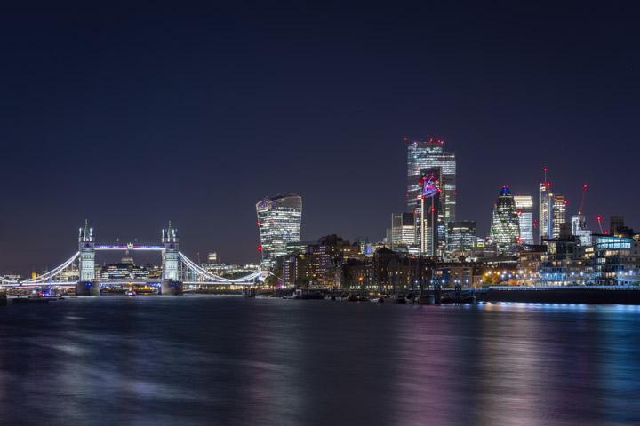 London skyline 2019