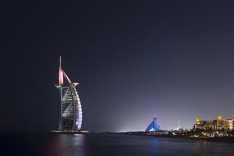 Burj Al Arab and Jumeirah Beach Hotel, Dubai