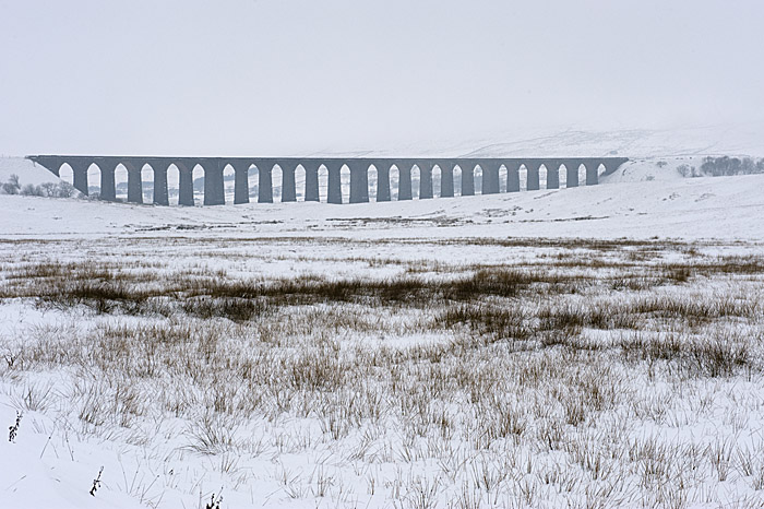 Ribblehead Viaduct in the snow