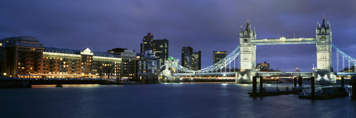 Changing London Skyline: Tower Bridge from Wapping 1999