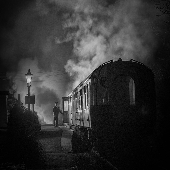 Railway photography in timeless black and white
