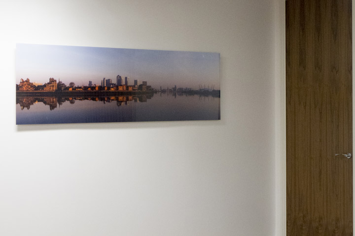 London skyline panoramic photograph as office art at Bishopsgate Financial