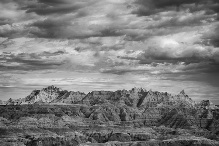 Black and White Photography Badlands South Dakota