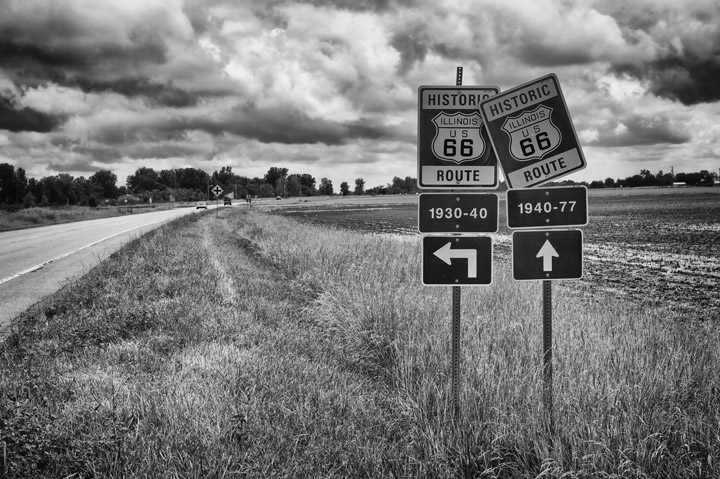 Black and White Photography Route 66