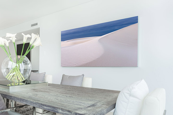 Canvas Print on Wall in Modern Room