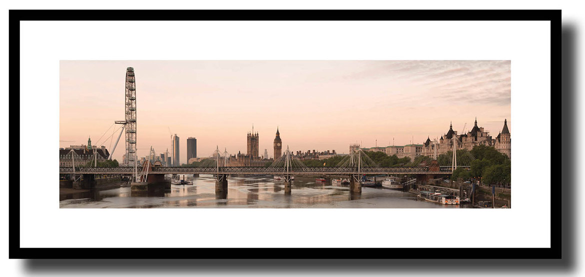 Framed print of London skyline