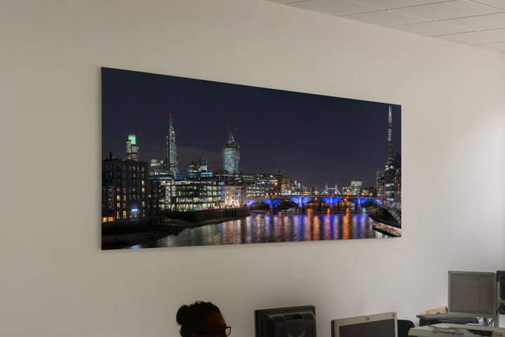 London panoramic photograph in the offices of Doherty Baines