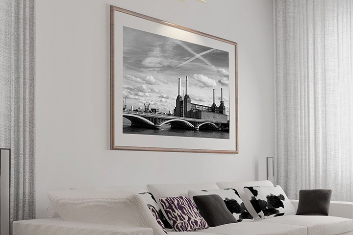 Framed Art  Print on Wall in Living Room