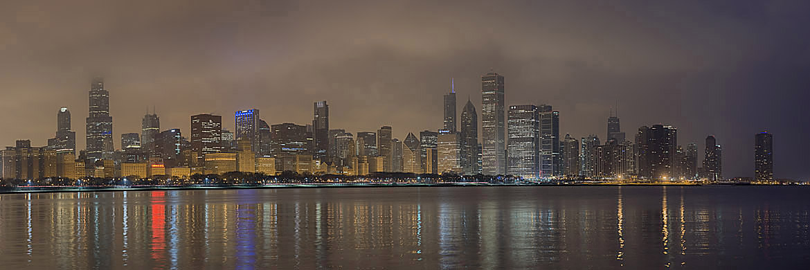 Giant Panoramic Print of Chicago