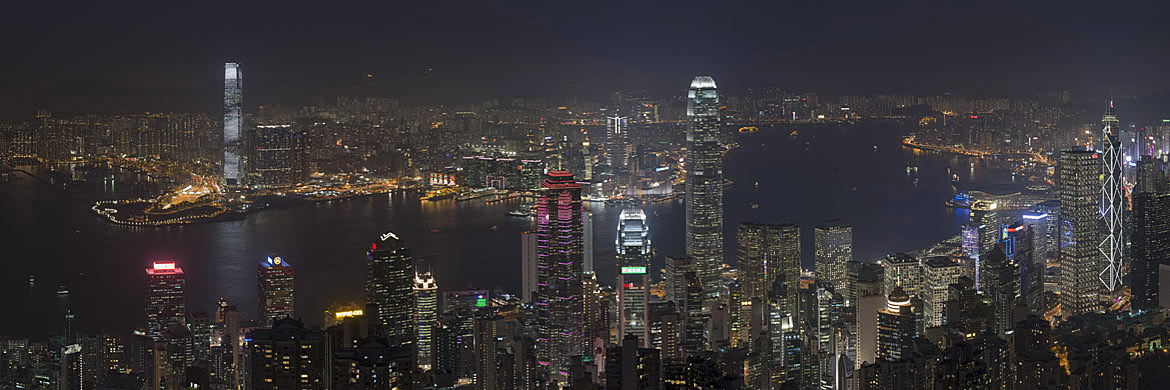 Giant Panoramic Print of Hong Kong
