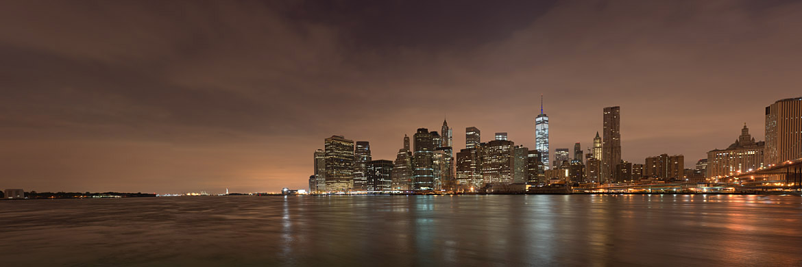 Giant Panoramic Print of Manhattan from Brooklyn