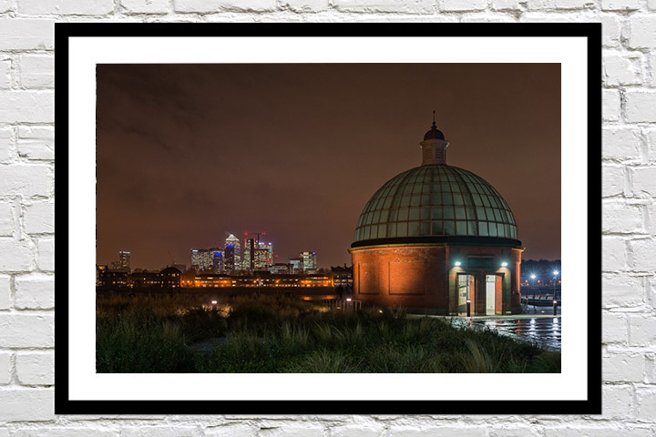 London Prints - Canary Wharf from Greenwich