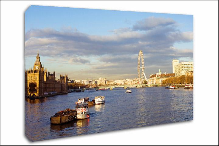 London Canvas Prints River Tames