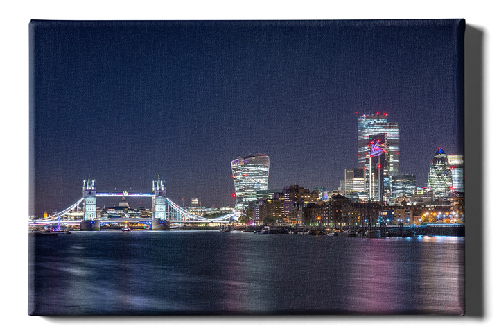 London city skyline the Gherkin Canvas Wall Art Print Large Any Size
