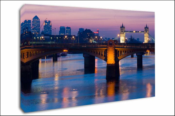London Canvas Prints Thames Bridges