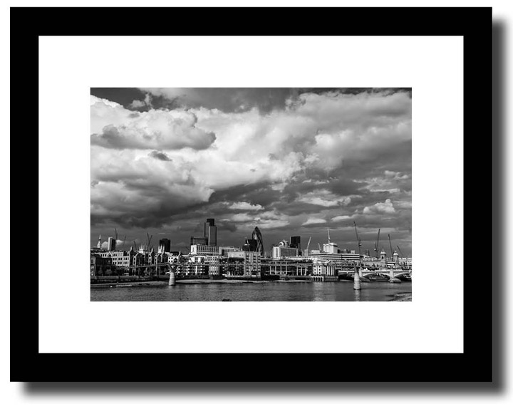 London framed prints city skyline