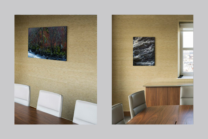 acrylic photographs of British scenes in the conference room  of Marathon Asset Management