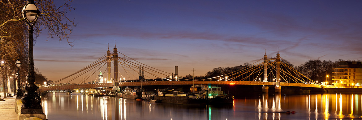 Albert Bridge print as office art