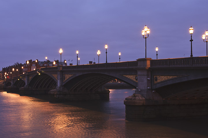Battersea Bridge print as office art