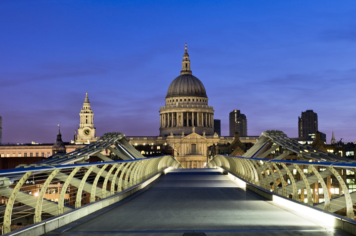 Millennium Bridge print as office art