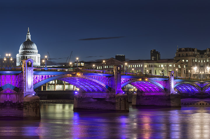 Southwark Bridge print as office art