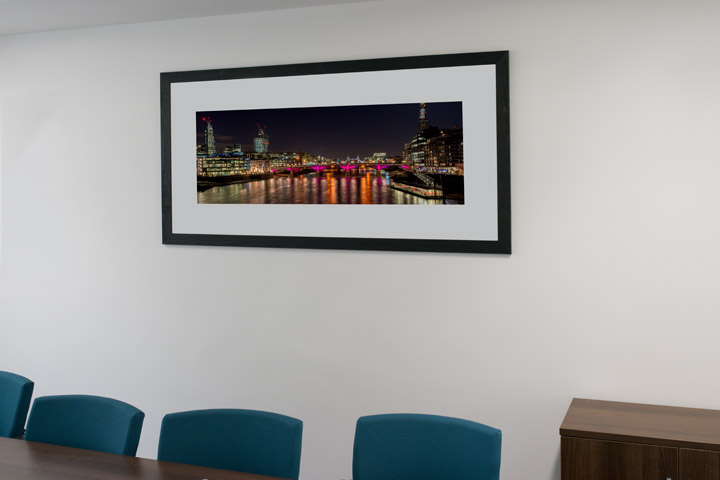 London panoramic photograph in the offices the British Quality Foundation