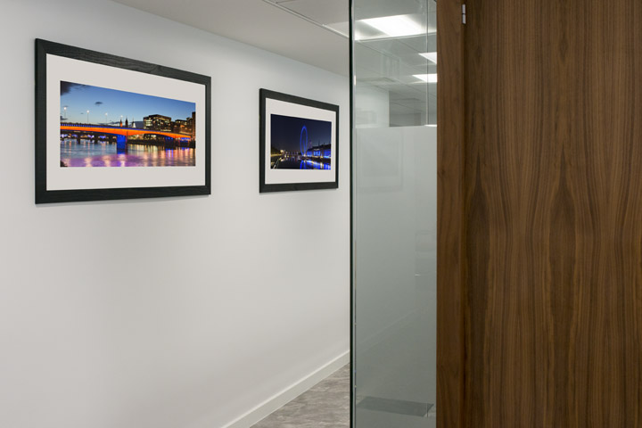 London panoramic photograph in the office of the British Quality Foundation