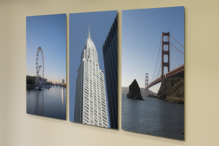 Office art  triptych London New York San Francisco for Integro by Mr Smith World Photography