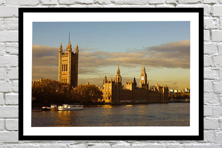 Retirement gift art print of houses of parliament