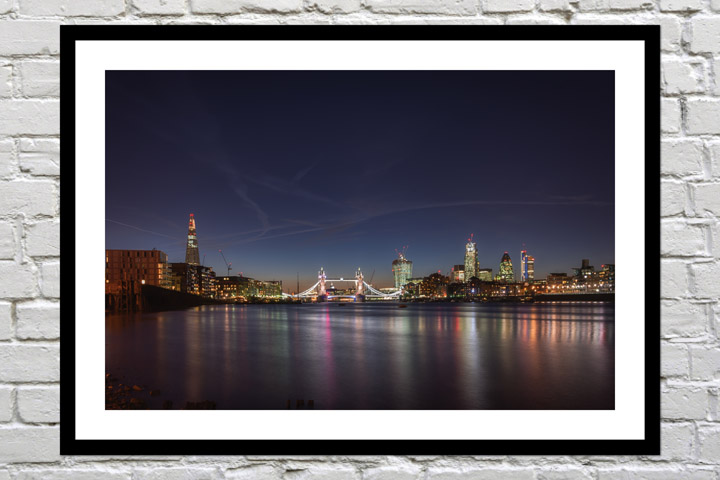 Retirement gift art print of london skyline
