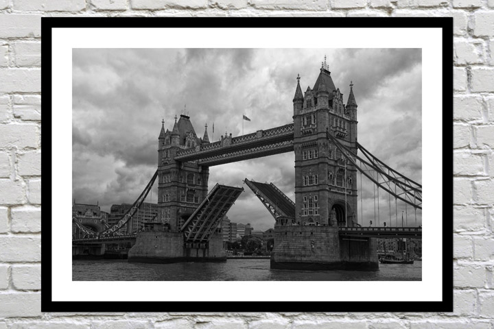 Retirement gift art print of tower bridge open