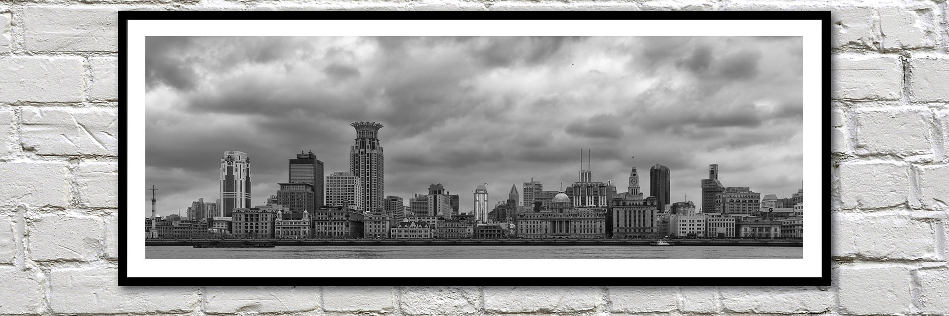 Office art ideas London black and white framed pictures