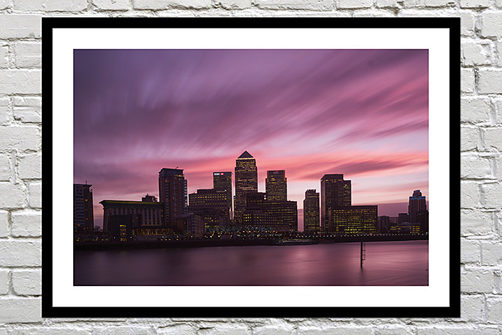 Framed print of London as a leaving present