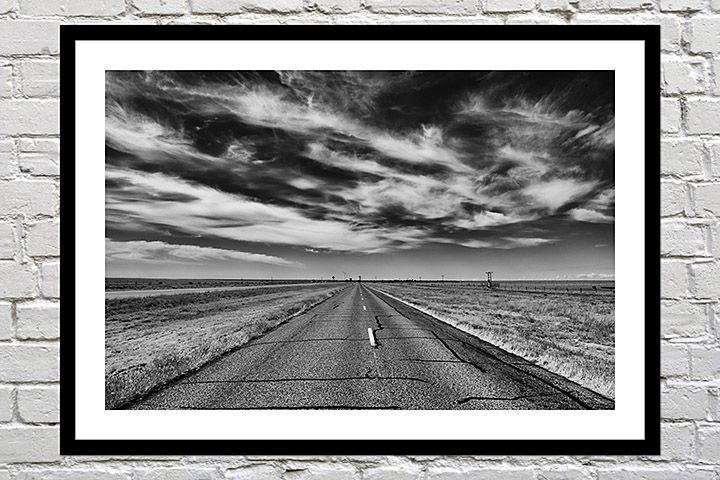 Framed print of the open road in america as a gift