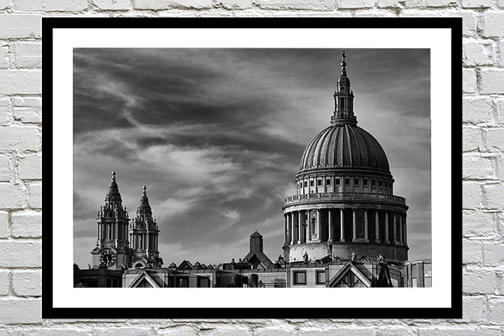 Framed print of St Pauls Cathedral as a gift for family occasions