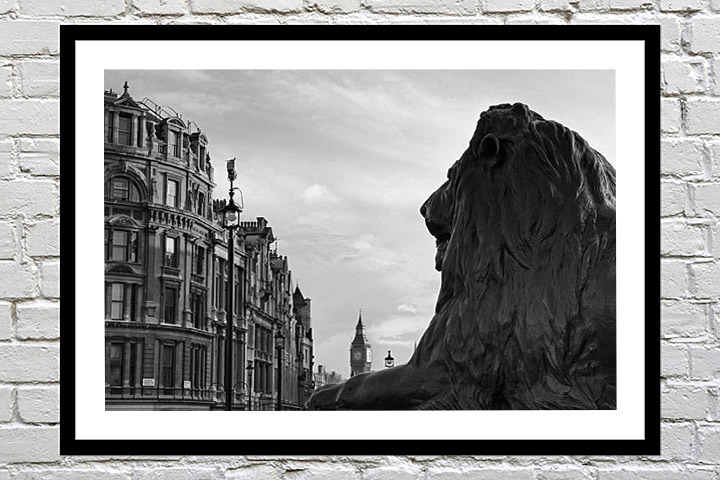 Framed print of Trafalgar Square as a gift for family occasions
