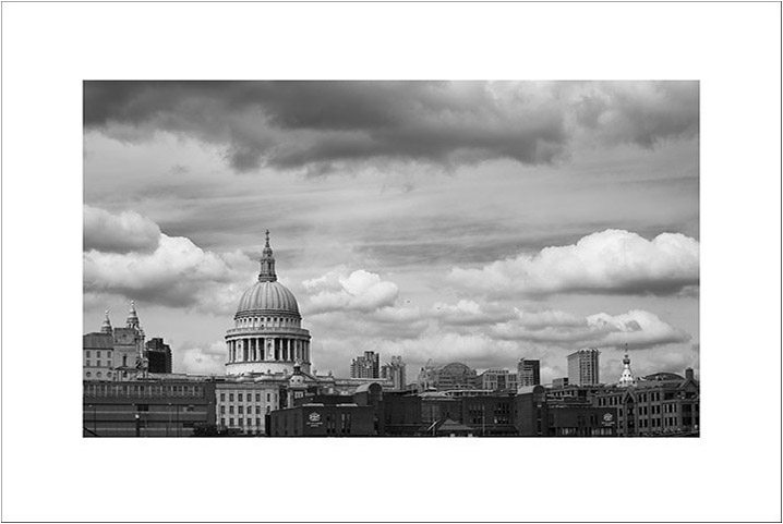 Black and White Photograph of London Skyline