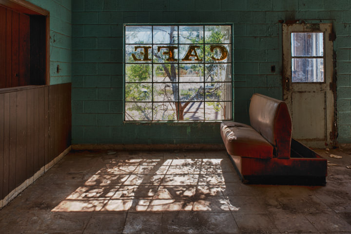 Abandoned Cafe Glenrio - Texas