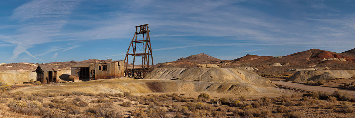 Abandoned Mine Goldfield - Nevada