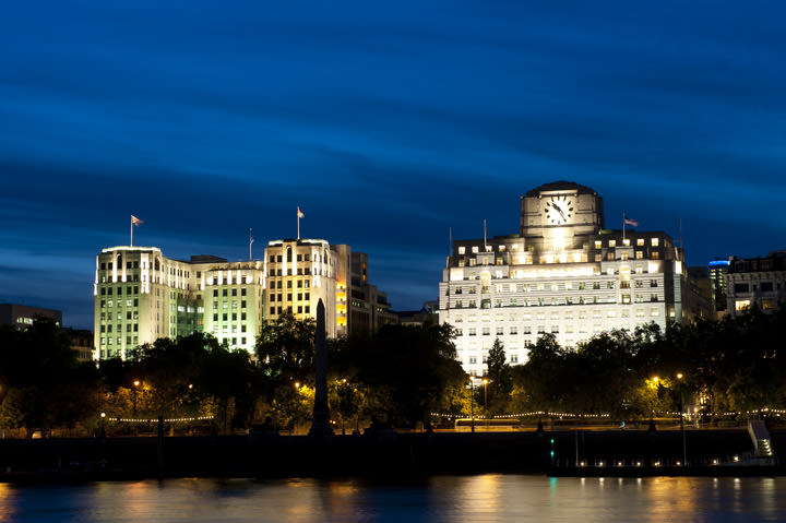 Adelphi Building Shell Mex  on the River Thames at Westminster
