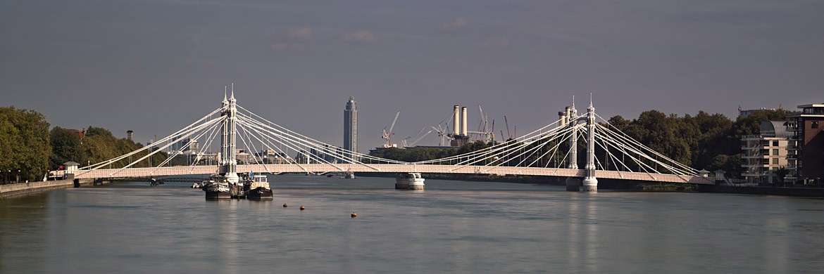 Panoramic photograph of the Albert Bridge